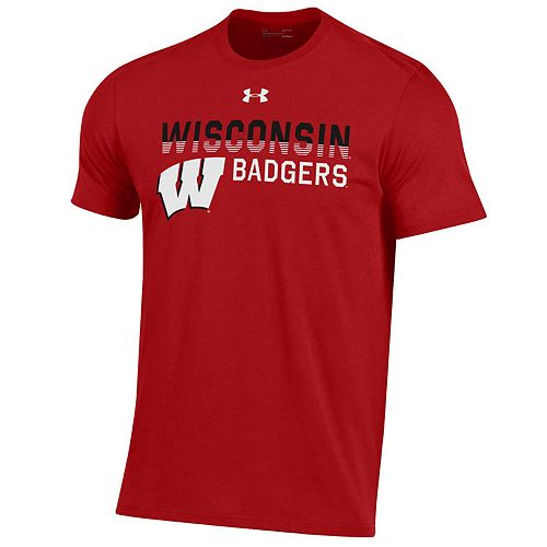Men's NCAA Wisconsin Badgers Performance Cotton Short Sleeve Tee