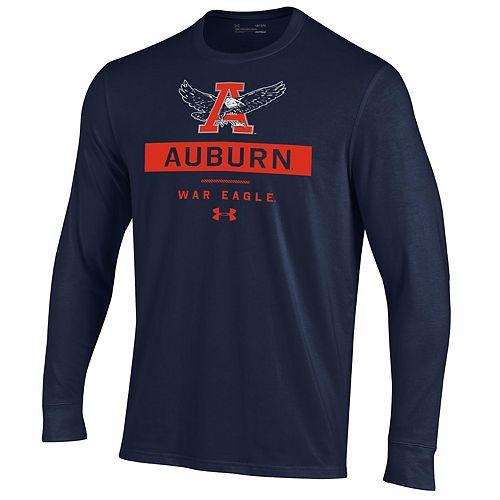 Men's NCAA Auburn Tigers Performance Cotton Long Sleeve Tee