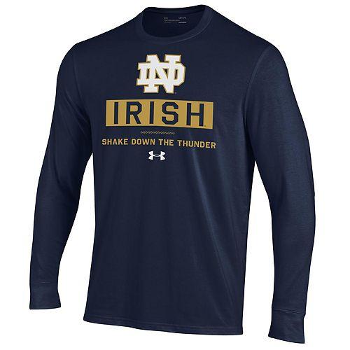 Men's NCAA Notre Dame Fighting Irish Performance Cotton Long Sleeve Tee