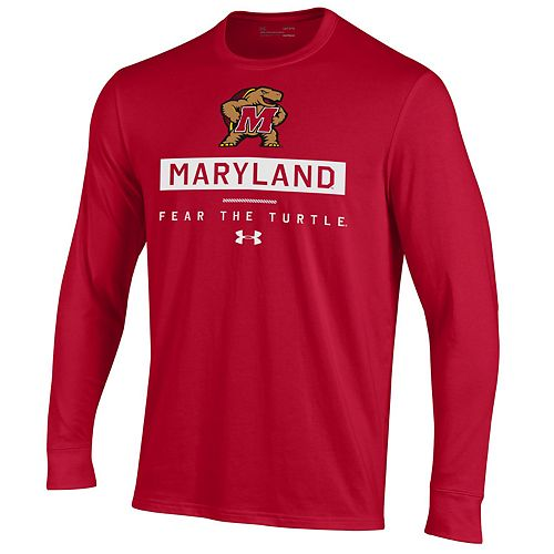 Men's NCAA Maryland Terrapins Performance Cotton Long Sleeve Tee
