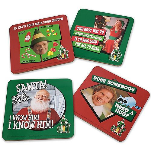 Elf The Movie 4-Pack Photo Badge Coaster Set by ICUP