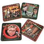 A Christmas Story 4-Pack Photo Badge Coaster Set by ICUP