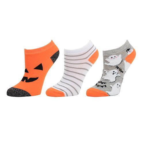 Girls SO® 3-pack Low Cut Halloween Socks