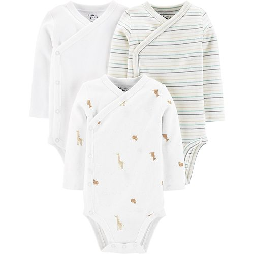 Baby Neutral Carter's 3-Pack Organic Side-Snap Bodysuits