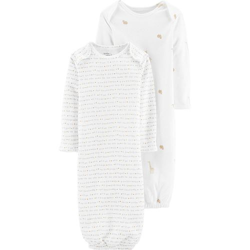 Baby Neutral Carter's 2-Pack Organic Sleeper Gowns