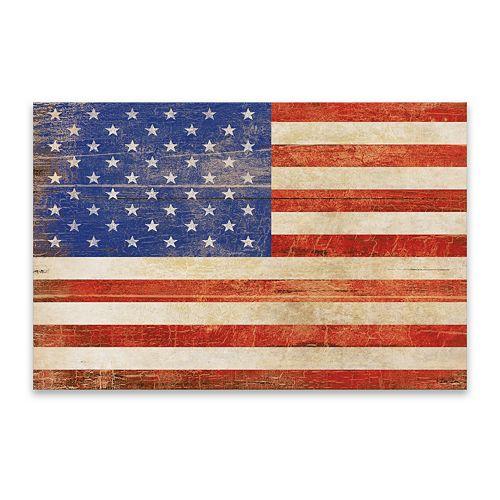 Artissimo Designs American Flag Distressed Wall Decor