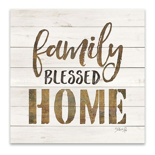 Artissimo Designs Family Blessed Home Wall Decor