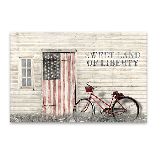 Artissimo Designs Land of Liberty Canvas Wall Decor