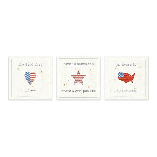 Artissimo Designs USA Cuties III Canvas Wall Decor 3-piece Set