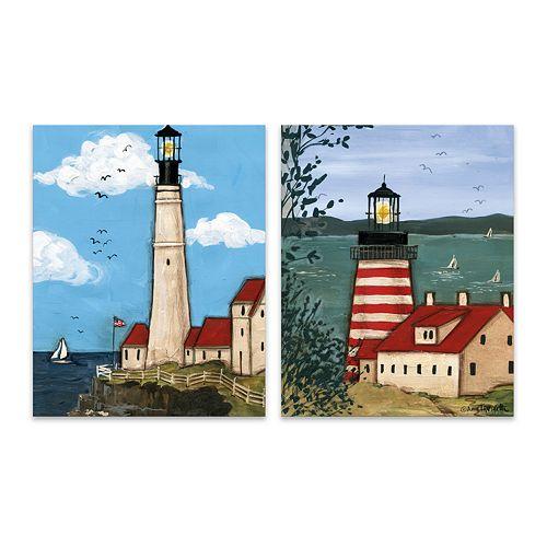 Artissimo Designs Lighthouse Canvas Wall Decor 2-piece Set