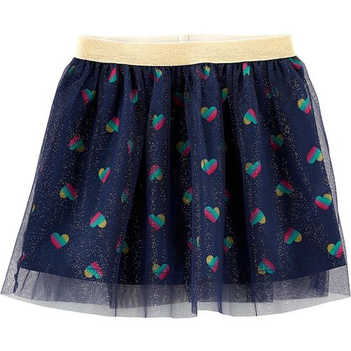 Toddler Girl Carter's Glitter Heart Tutu Skirt