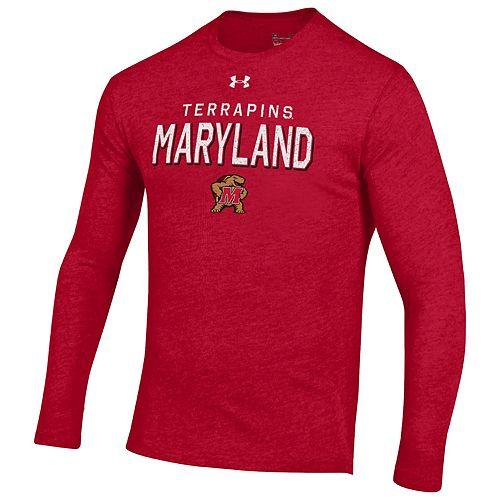 Men's Maryland Terrapins Triblend Long Sleeve Tee