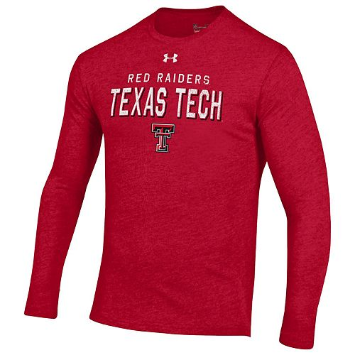 Men's Texas Tech Red Raiders Triblend Long Sleeve Tee