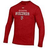 Men's Wisconsin Badgers Triblend Long Sleeve Tee