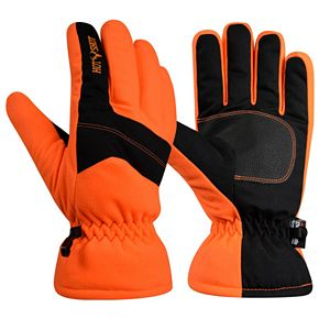 Boys 8-20 Hot Shot Blaze Orange Defender Gloves