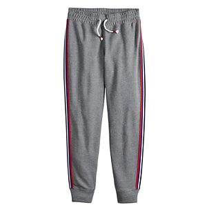 Girls 7-16 & Plus Size SO French Terry Jogger with Taping
