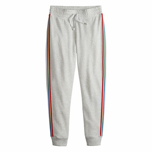 Girls 7-16 & Plus Size SO® French Terry Jogger with Taping
