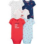 Baby Girl Carter's 5-Pack Berry-Theme Bodysuits
