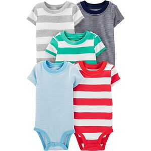 Baby Carter's 5-Pack Striped Bodysuits