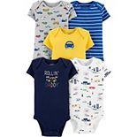Baby Boy Carter's 5-Pack Cars Bodysuits