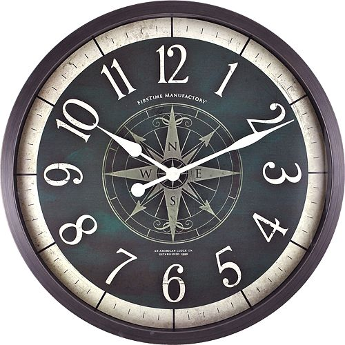 FirsTime & Co. Faux Compass Wall Clock