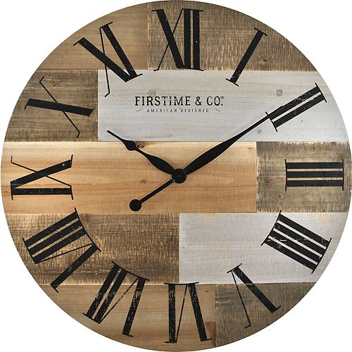 FirsTime & Co. Pallet Wall Clock