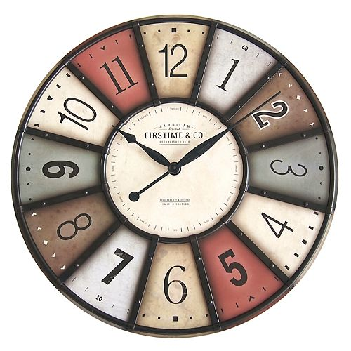 FirsTime & Co. Color Wall Clock