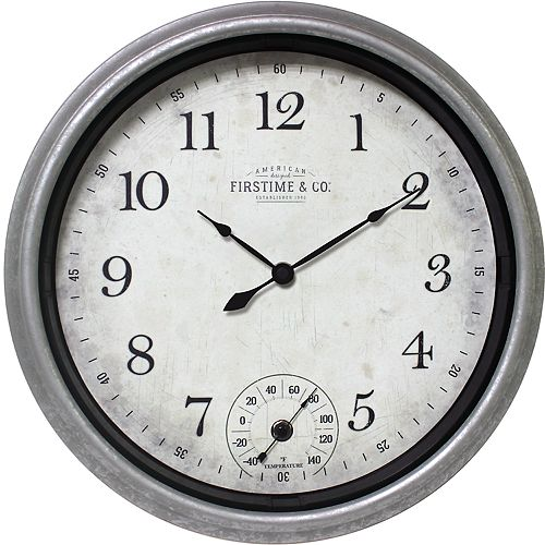 FirsTime & Co. Rustic Wall Clock