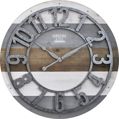 FirsTime & Co. Shabby Planks Wall Clock
