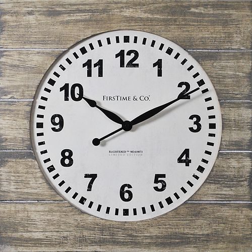 FirsTime & Co. Jackson Square Wall Clock