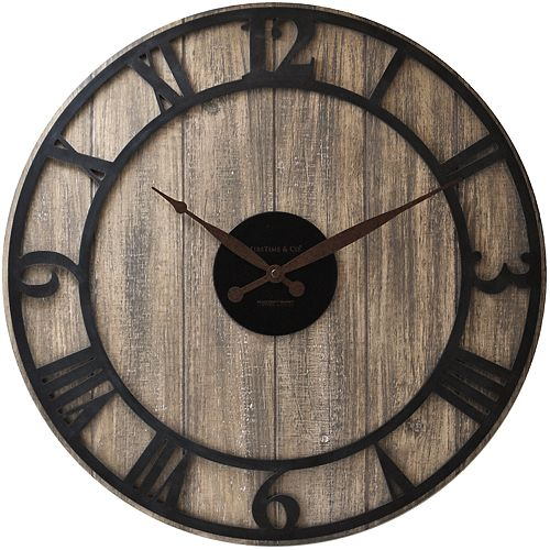FirsTime & Co. Finley Planks Wall Clock