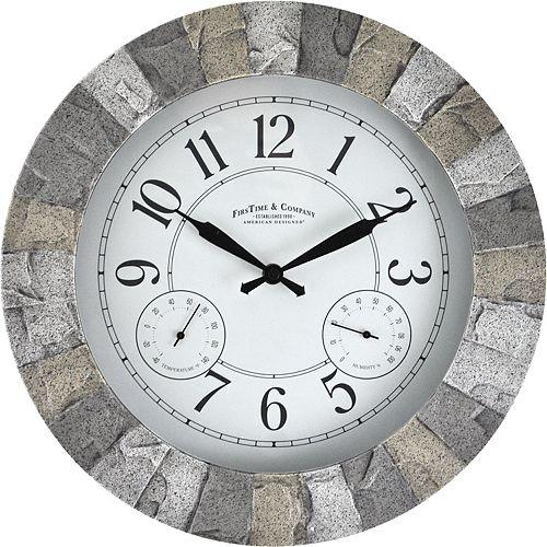 FirsTime & Co. Stoneybrook Wall Clock