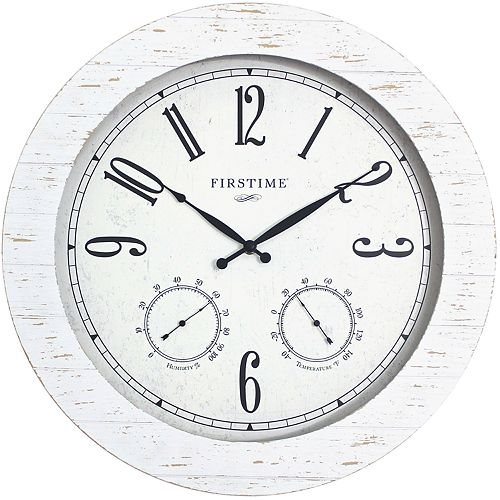 FirsTime & Co. Faux Shiplap Planks Wall Clock