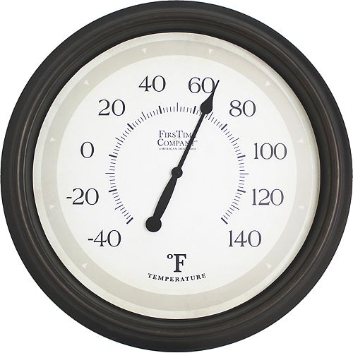 FirsTime & Co. Barden Indoor / Outdoor Wall Thermometer