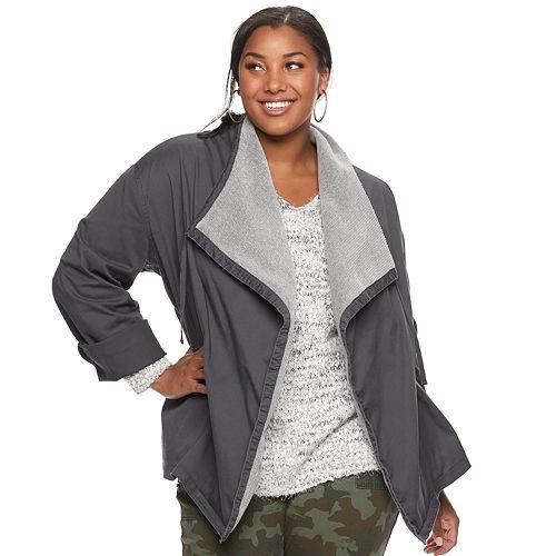 Juniors' Plus Size Unionbay Jones Anorak Swing Jacket