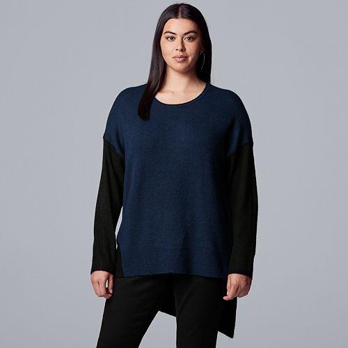 Plus Size Simply Vera Vera Wang Asymmetrical Hem Sweater