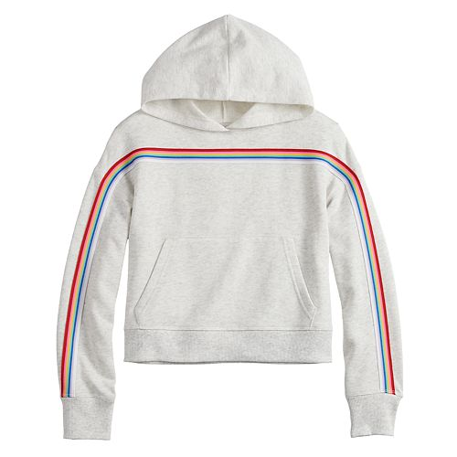 Girls 7-16 & Plus Size SO® French Terry Hoodie with Taping
