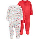 Baby Girl Carter's 2-Pack Zip-Up Cotton Sleep & Plays