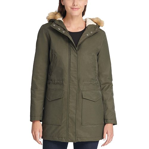 Women's Levi's® Hooded Faux-Fur Trim Fishtail Parka Jacket