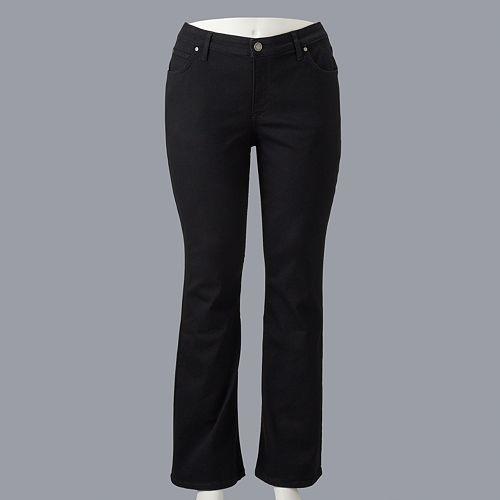 Plus Size Simply Vera Vera Wang Bootcut Dark Denim Jeans