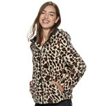 Juniors' Jou Jou Faux Fur Jacket With Hood