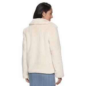 Juniors' Jou Jou Faux Fur Jacket