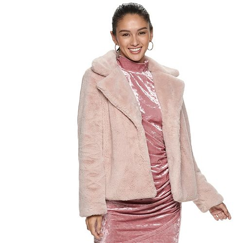 Juniors' Jou Jou Faux Fur Jacket