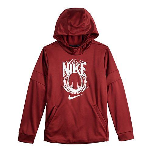 Boys 8-20 Nike Baseball Dri-FIT Therma Training Fleece Pullover Hoodie