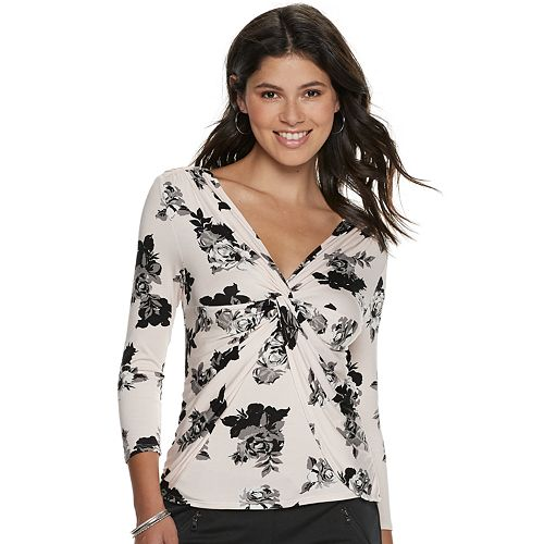 Juniors' Candie's® Faux Layered 3/4 Sleeve Tee