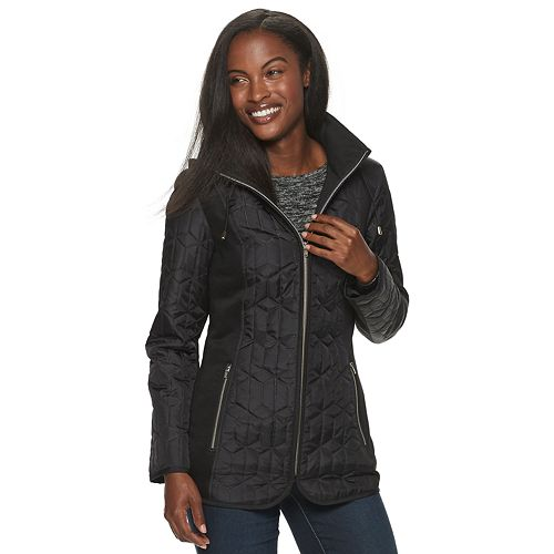 Women's d.e.t.a.i.l.s Multi Media Embossed Quilted Jacket