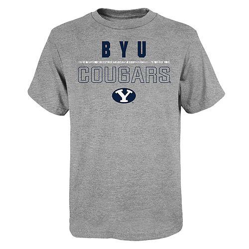 """Boy's 4-20 NCAA BYU Cougars """"Launch"""" Short Sleeve Tee"""
