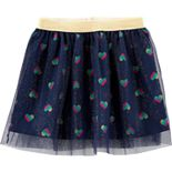 Baby Girl Carter's Glitter Heart Tutu Skirt