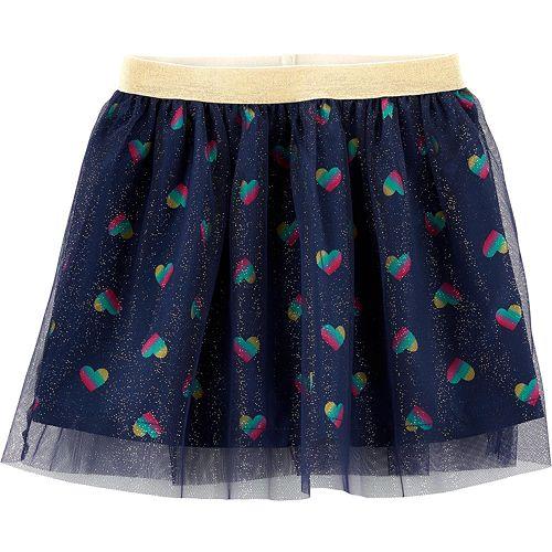 Baby Girl Carter's Glitter Heart Tutu Skirt