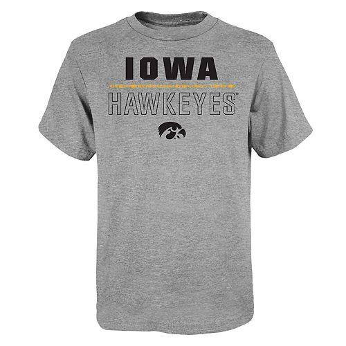 """Boy's 4-20 NCAA Iowa Hawkeyes """"Launch"""" Short Sleeve Tee"""